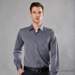 ROBERTA諾貝達 台灣製 吸濕速乾 商務條紋長袖襯衫 深灰