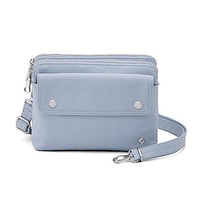 PORTER - 輕甜繽紛SPIRIT輕巧雙層斜背包 - 粉藍(銀)