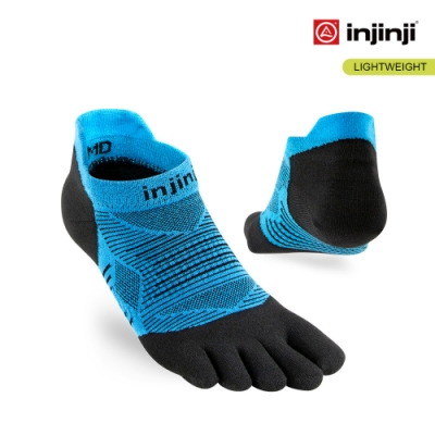 【INJINJI】RUN 輕量吸排五趾隱形襪 [水藍]