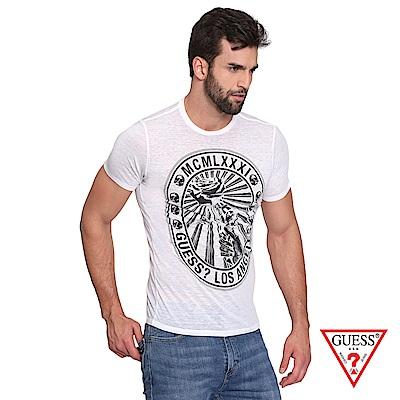 GUESS-男裝-經典美式意象短T,T恤-白 原價1290