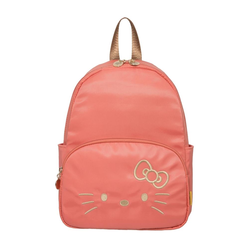 【Hello Kitty】經典凱蒂-迷你後背包-粉橘 FPKT0D001CR