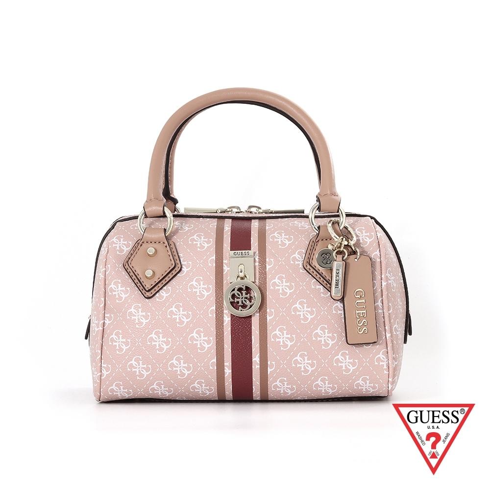 GUESS-女包-滿版LOGO印花醫生包手提包-粉 原價3090