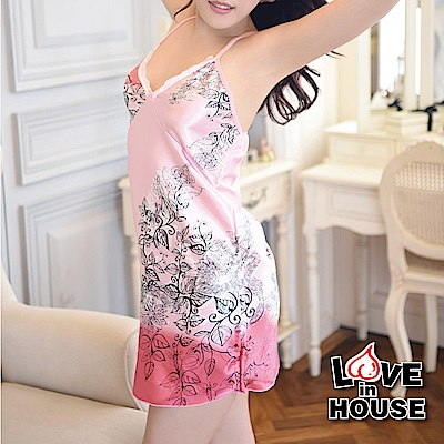 愛愛屋 三件組套粉色可愛家居服 粉色