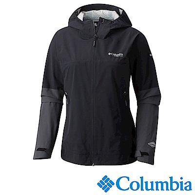 Columbia哥倫比亞 女款-鈦Omni-Tech防水連帽外套URR01610BK