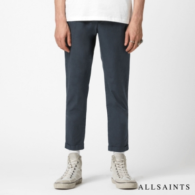 ALLSAINTS BENGAL 俐落修身打摺錐形棉質西裝長褲-深灰