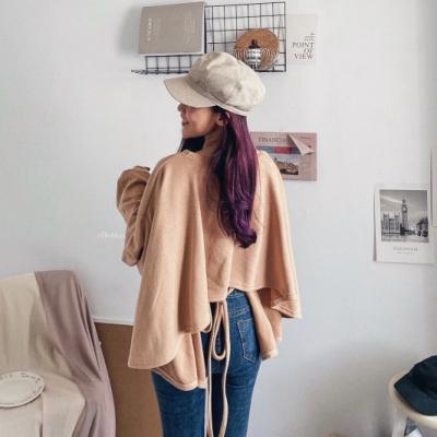 DoMiss甜美後綁繩寬鬆衛衣棉(4色)