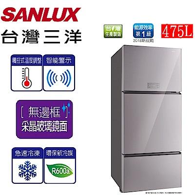 [無卡分期-12期] SANLUX台灣三洋 475L 1級變頻3門電冰箱 SR-C475CVG