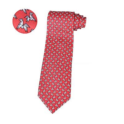 HERMES愛馬仕TWILLBI ORIGAMI HORSE緹花馬摺紙設計蠶絲領帶(紅)