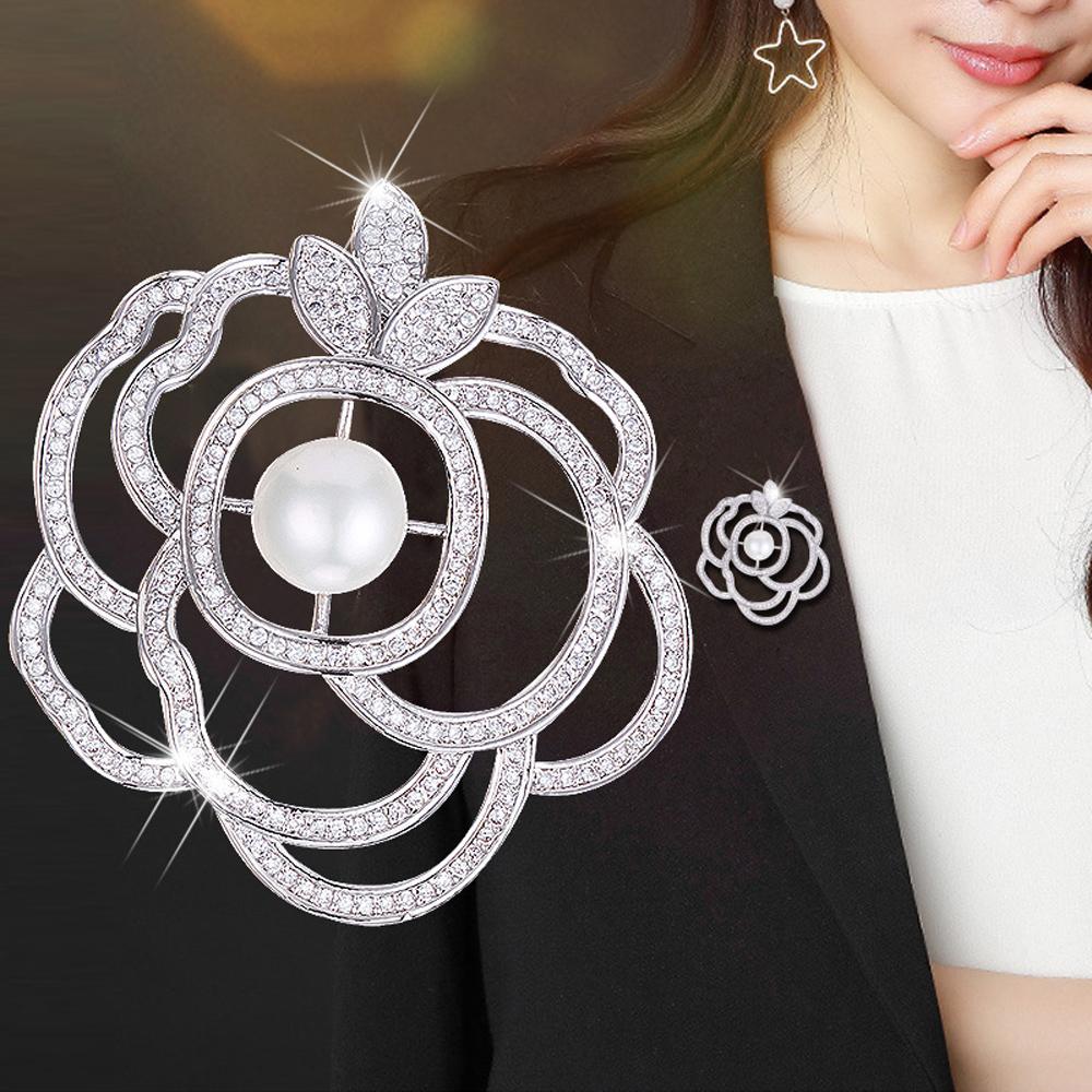 梨花HaNA 韓國手工鑲嵌珍珠環花華麗胸針