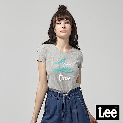 Lee HAVE A LEE TIME 短袖圓領T恤-灰
