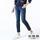 麥雪爾 純棉水洗刷色修身九分牛仔褲-藍 product thumbnail 1