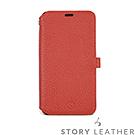 STORYLEATHER iPhone XR 硬殼式側翻(紅)現貨皮套