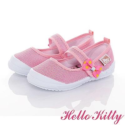HelloKitty輕量透氣抗菌防臭幼稚園室內鞋童鞋-粉