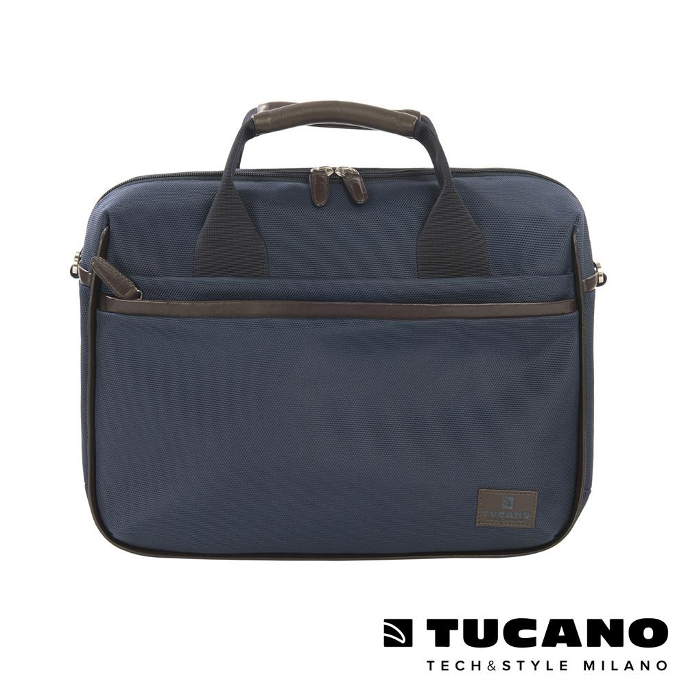 TUCANO EDGE 時尚側背手提二用包 13吋-藍