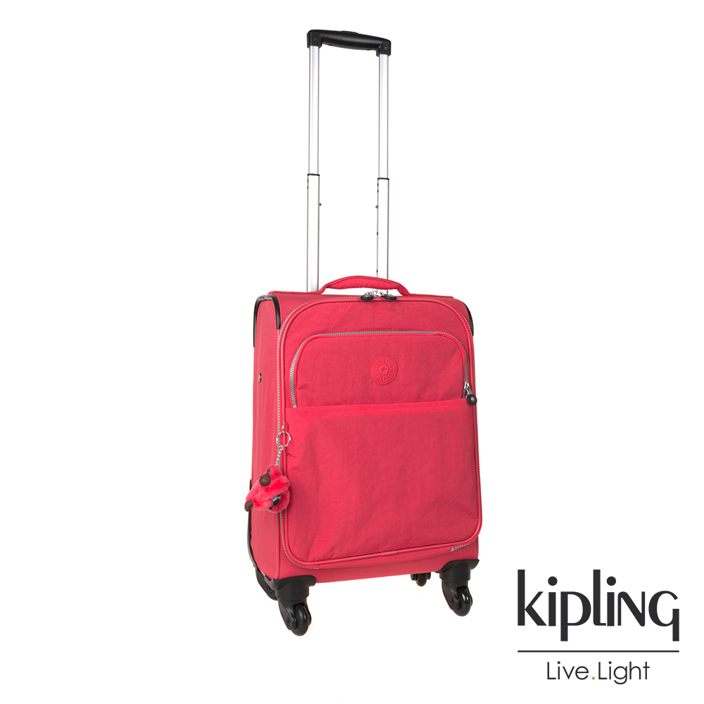 Kipling 時尚輕旅行李箱21吋 螢光澄素面-大