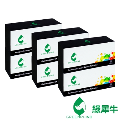 【綠犀牛】for Fuji Xerox 6黑 CT202137 環保碳粉匣/適用 Fuji Xerox DocuPrint M115b / M115fs / M115w / M115z / P115b