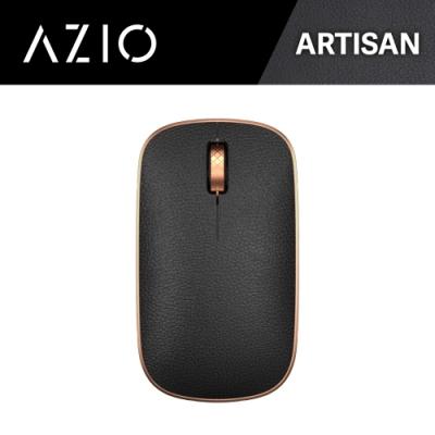 AZIO RETRO R.C.M. ARTISAN 無線藍牙復古牛皮滑鼠(黑金)