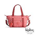 Kipling微甜薔薇粉手提側背包-ART MINI