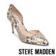 STEVE MADDEN-LESSONS1 素面尖頭側空高跟鞋-蛇皮金 product thumbnail 1