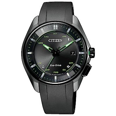 CITIZEN 星辰光動能藍芽連線鈦金飛航手錶BZ4005-03E-黑/40mm