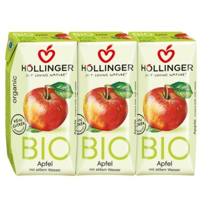 HOLLINGER 荷林阿爾卑斯有機鮮榨蘋果汁3瓶 (200ml/瓶)