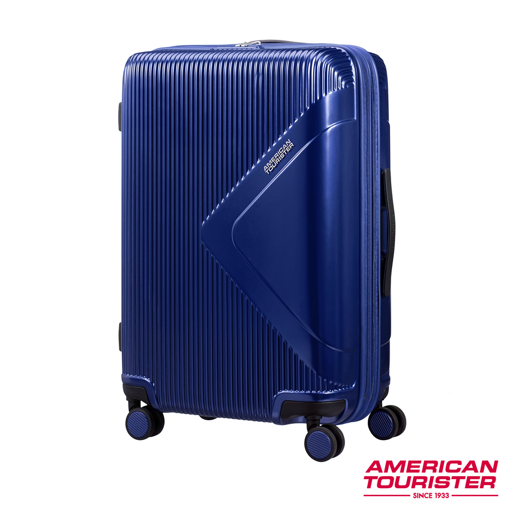 AT美國旅行者 25吋Modern Dream都會光澤防刮耐磨硬殼TSA行李箱(海軍藍)