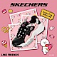 SKECHERS 女休閒系列 D LITES 3.0 LINE FRIENDS 兔兔限定款 - 66666255BKPK product thumbnail 1