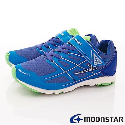 日本月星頂級競速童鞋 究極輕系列 EI685藍(中大童段)