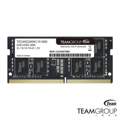 TEAM十銓 DDR4 2666 8G 筆記型記憶體
