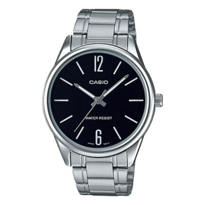 CASIO 簡約紳士潮流指針不鏽鋼錶(MTP-V005D-1B)-黑/40mm