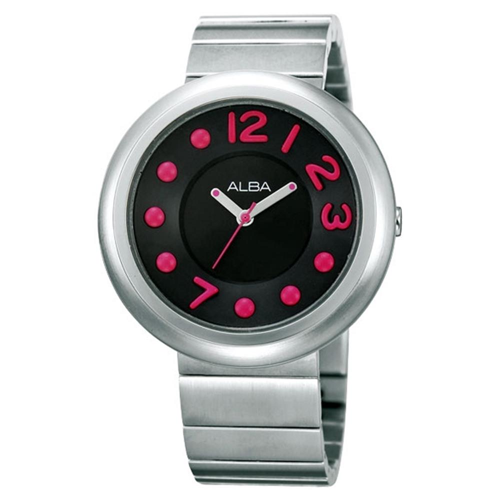 ALBA 雅柏 普普風簡約鋼帶錶-銀38mm(AH8089X/VJ21-X029D)