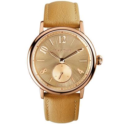 RELAX TIME 復古甜美錶款(RT-70-2)玫瑰金x焦糖/38mm