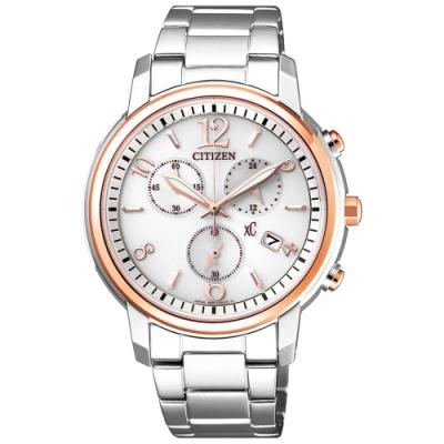 CITIZEN星辰 xC光動能俏皮甜心限定款時尚計時女錶(FB1434-50A)-38mm