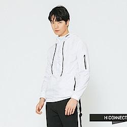 H:CONNECT 韓國品牌 男裝-運動造型連帽上衣-白