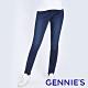 Gennies奇妮-彈力刷色窄管牛仔褲-深藍(T4H21) product thumbnail 1