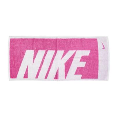 Nike 毛巾 Jacquard Towel 男女款 棉質 吸水性佳 健身 重訓 路跑 居家用 粉 白 N1001539640MD