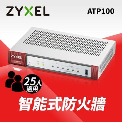 (領券現折)Zyxel合勤 Network ATP100 智能防火牆(附一年 Gold License授權) 沙箱 AI雲端智能 大數據情資 雲端資安分析平台 Vlan VPN