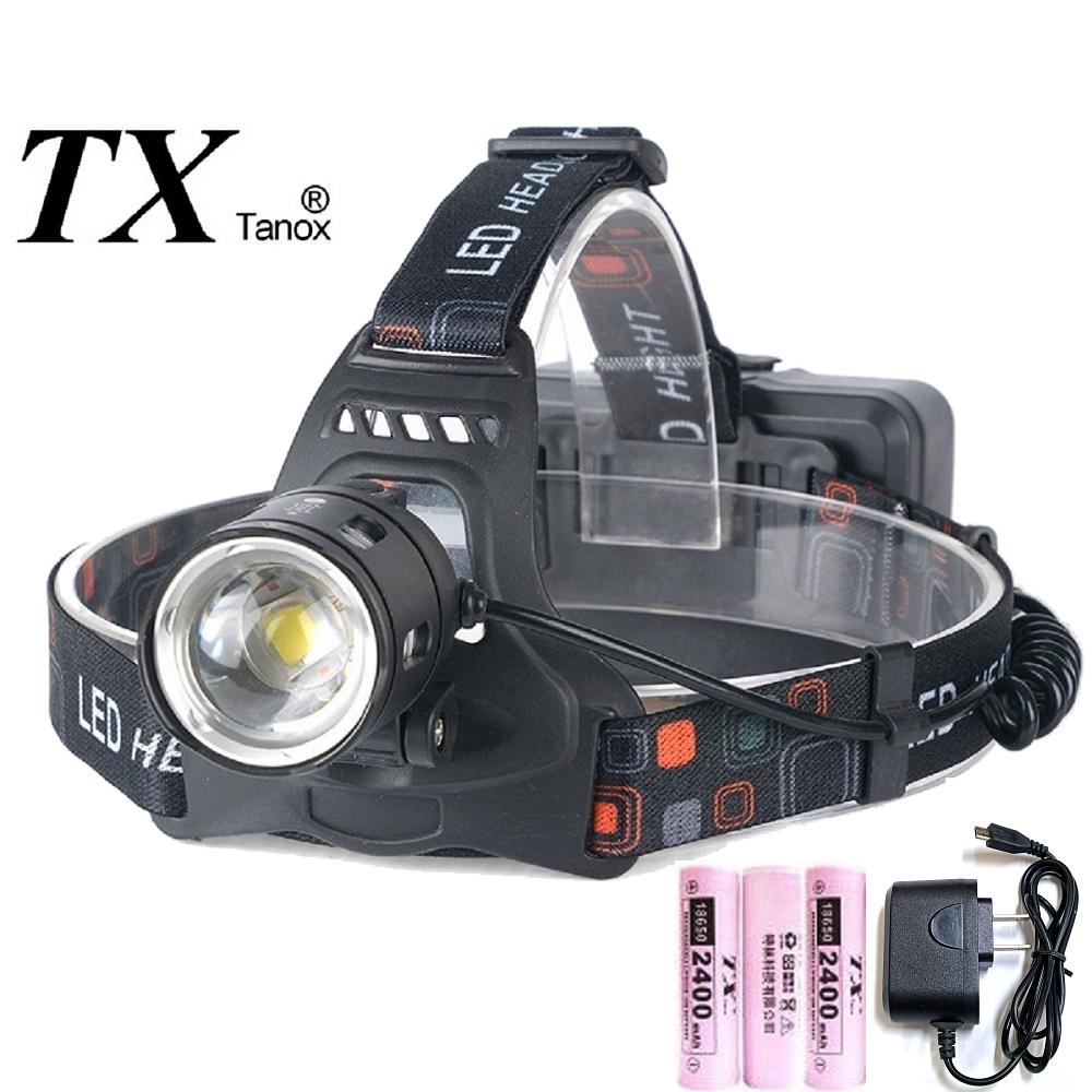 TX特林XHP50 LED伸縮變焦強亮頭燈(HD-USB20-P50)