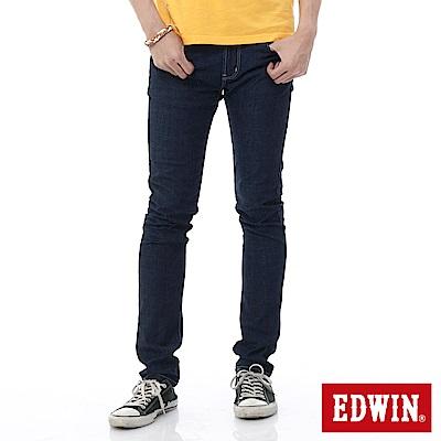 EDWIN 窄直筒 EDGE輕爽COOL牛仔褲-男-原藍色