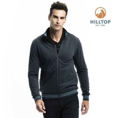 【hilltop山頂鳥】男款ZISOFIT保暖吸濕快乾刷毛外套H22MY0深灰