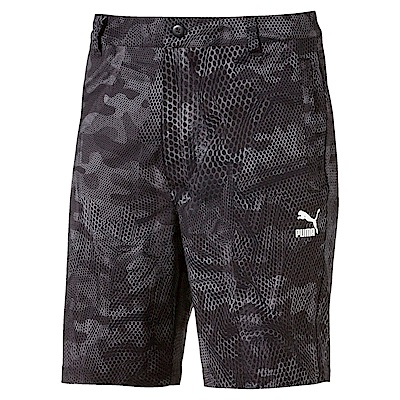 PUMA-男性流行系列印花短風褲-黑色-亞規