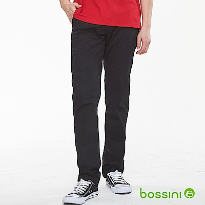 bossini男裝-修身卡其長褲02黑