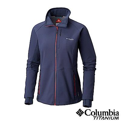 Columbia哥倫比亞 女款-Omni-Shie 防潑保暖軟殻外套-深藍