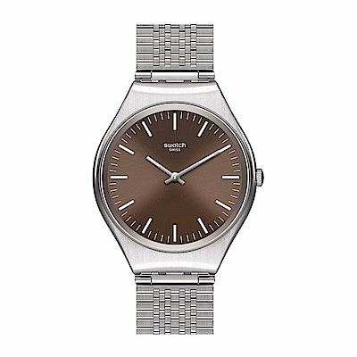 Swatch 超薄金屬系列 SKINBOOT星銀手錶