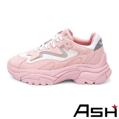 ASH-ADDICT BIS系列時尚潮流休閒撞色增高老爹鞋-粉