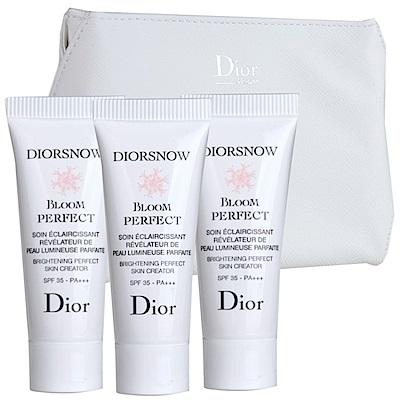 *Dior迪奧 雪晶靈光感柔膚萃SPF35 PA+++ 7MLX3+化妝包