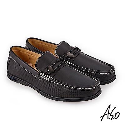 A.S.O 3D超動能 直套式奈米戶外健走鞋 黑