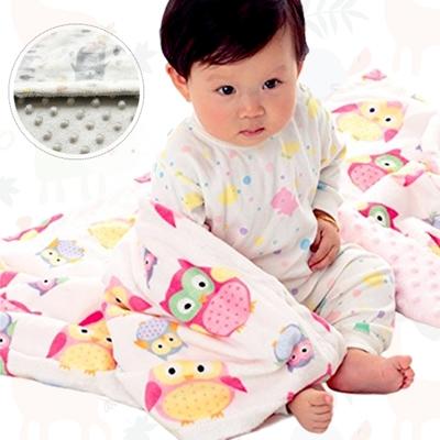 colorland 泡泡毯包巾嬰兒被 印花雙層短毛絨毛毯蓋毯冷氣毯