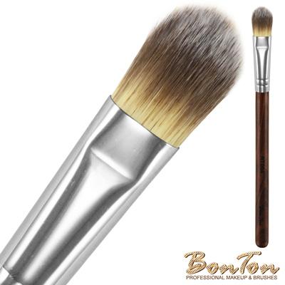 BonTon 原木系列 扁粉底刷(小) RT004 三色纖維直毛