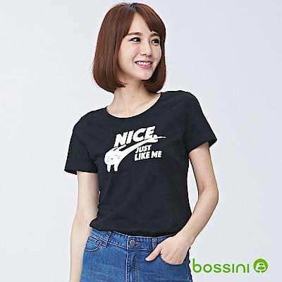 bossini女裝-印花短袖T恤02黑